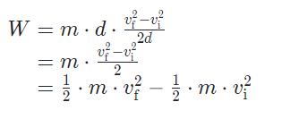 formula-lavoro Teorema dell'energia cinetica Energia Cinetica