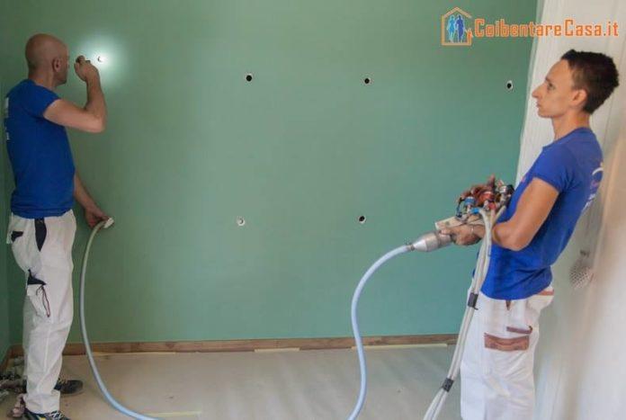 foratura-della-parete Ottenere un reale risparmio energetico in casa è possibile grazie all'isolamento termico interno Guide Risparmio Energetico